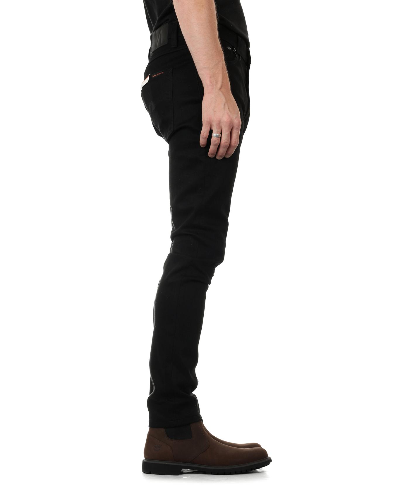 Nudie Lean Dean Slim Tapered Mens Jeans Dry Ever Black