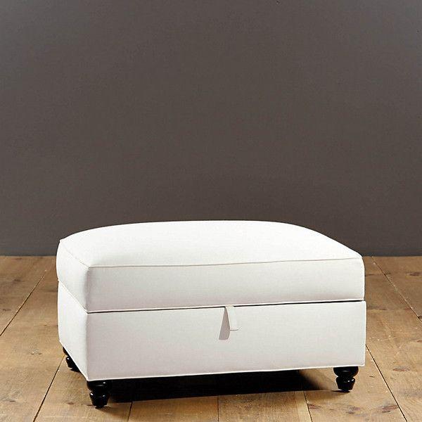 Ballard Designs Collins Storage Ottoman ($399) ❤ liked on Polyvore ...