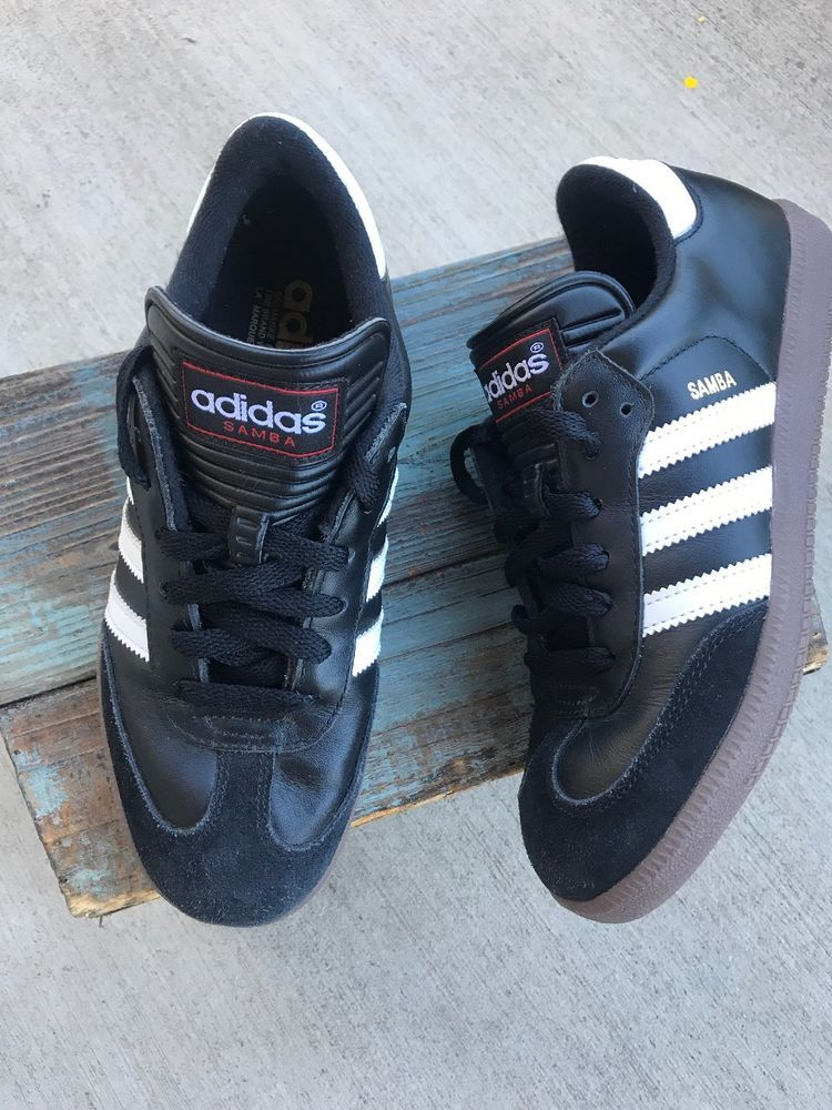 4517e0d44 Adidas Samba classic 5.5 Men s Boys Black White Suede Leather Casual Soccer  Shoe