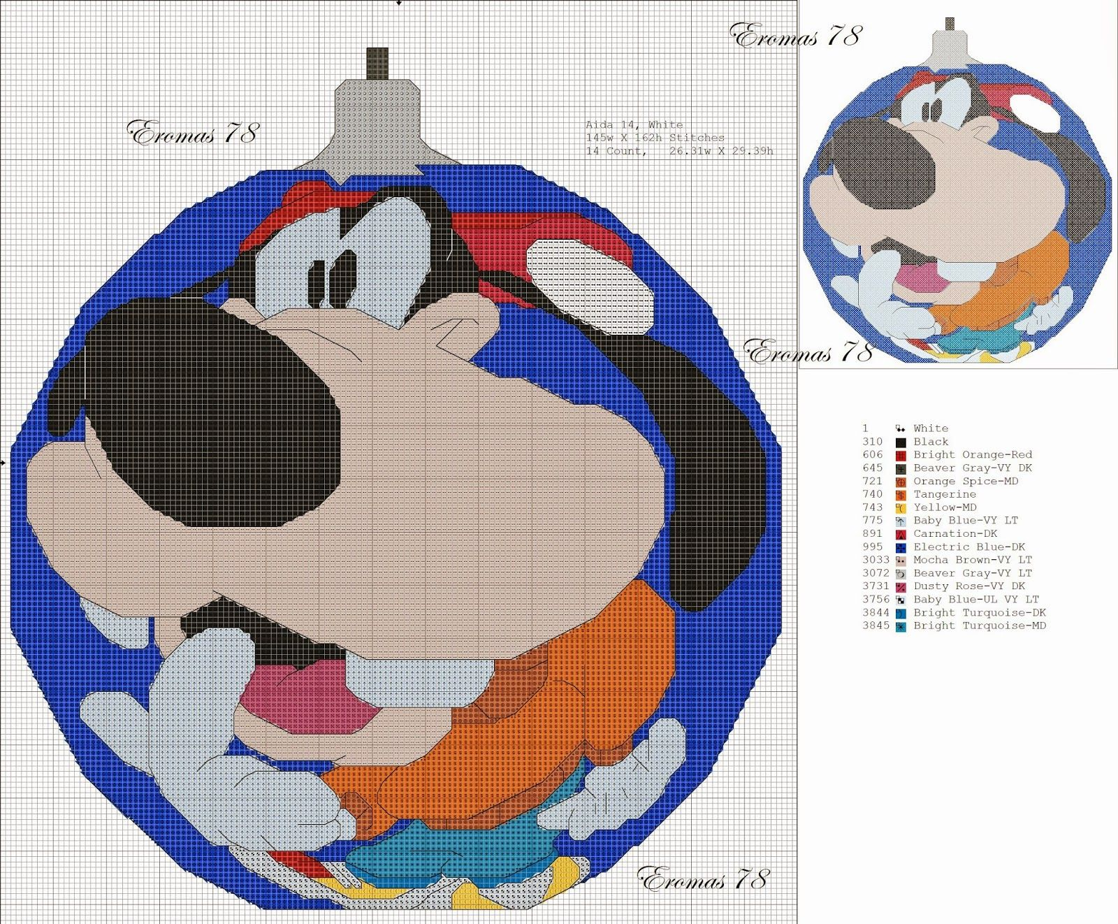 Cross Stitch Craze: Mickey Mouse and Friends Christmas Ornaments ...
