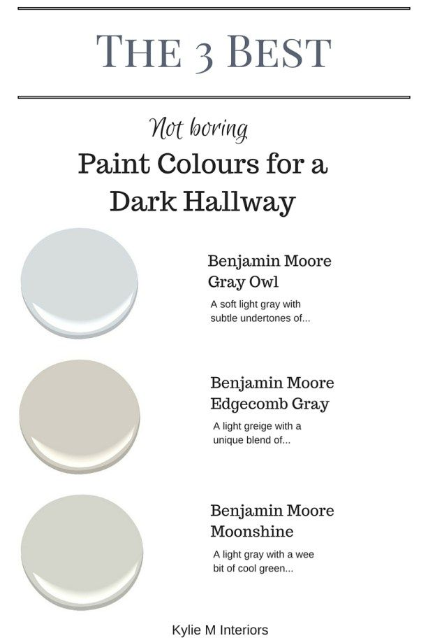 Good Hallway Paint Colors the 3 best not boring paint colours to brighten up a dark hallway