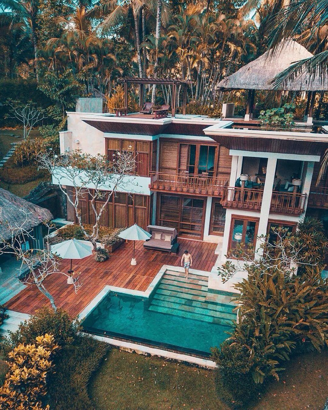 Having your own private villa in the jungle Bali Indonesia