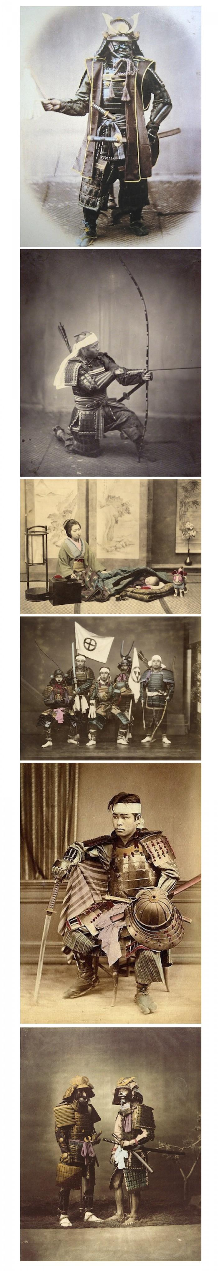 El último de los Samurai : Hermosas fotografías coloreadas a mano de los guerreros y cortesanas