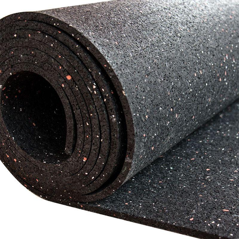 Gummiboden RR-C-920- 8 mm - schwarz mit rot weiß Sprenkelung Hoch - küche neu bekleben