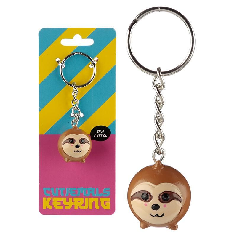Cute collectable sloth keyring with free delivery sloth