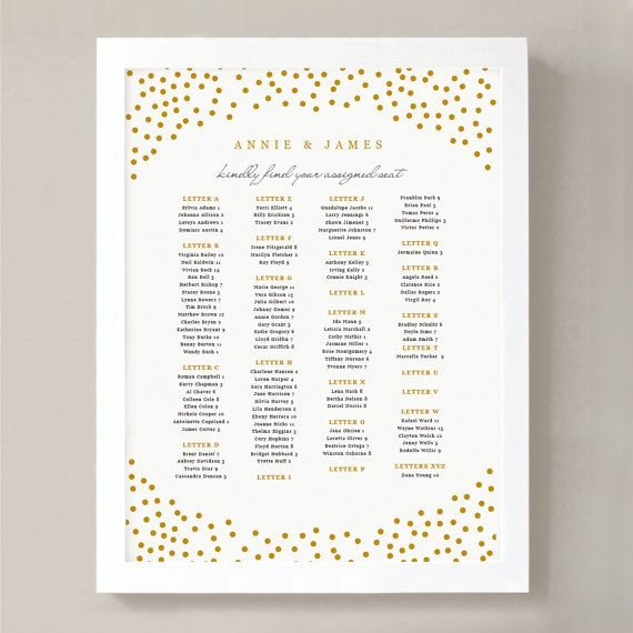 Instant download printable seating chart poster template gold script word or pages  editable artwork colors wedding pinterest also rh
