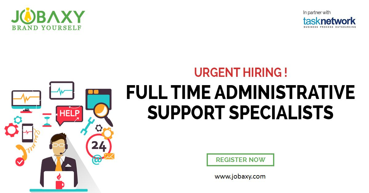 Now Looking for Property Specialists! Register  wwwjobaxy For