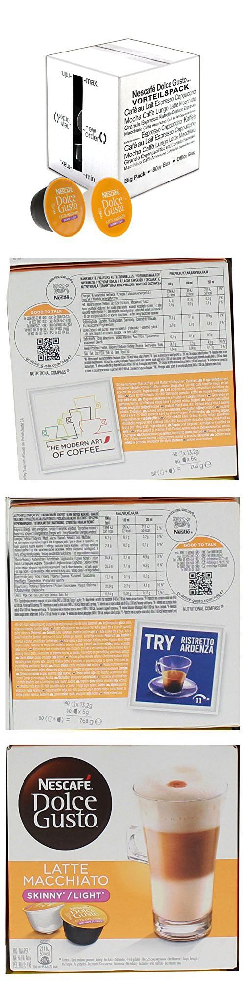 80 x Nescafé Dolce Gusto Latte Macchiato Light, Less