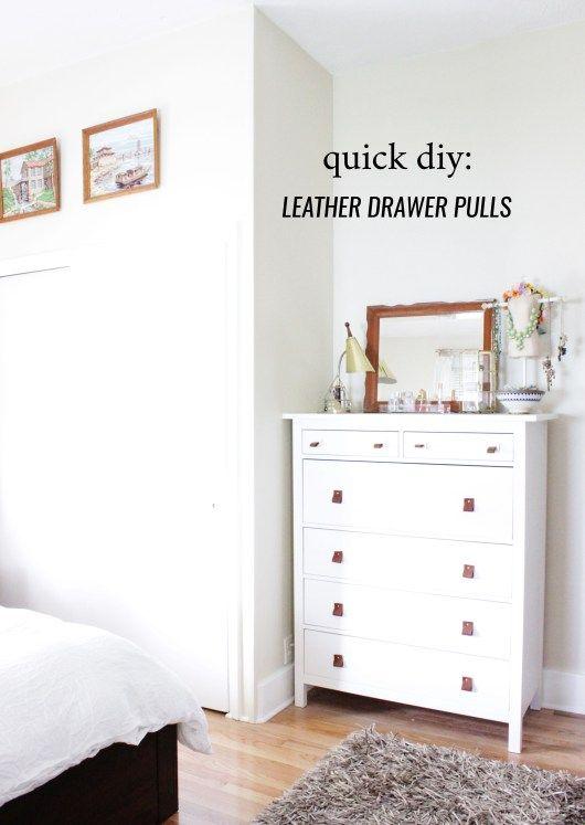 Quick Diy Leather Strap Drawer Pulls Designandcuriosity