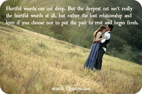 Hurtful Words Can Cut Deep But The Deepest Cut Isnt Really The Hurtful