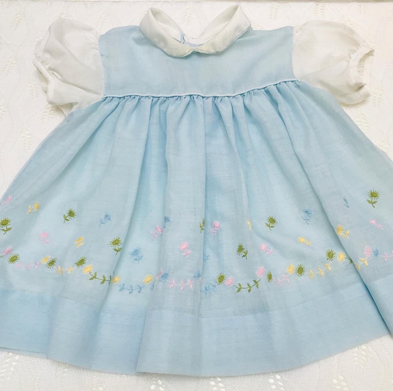 12 18 Month Vintage Floral Baby Dress Etsy Floral Baby Dresses Dresses Baby Dress [ 1432 x 1440 Pixel ]