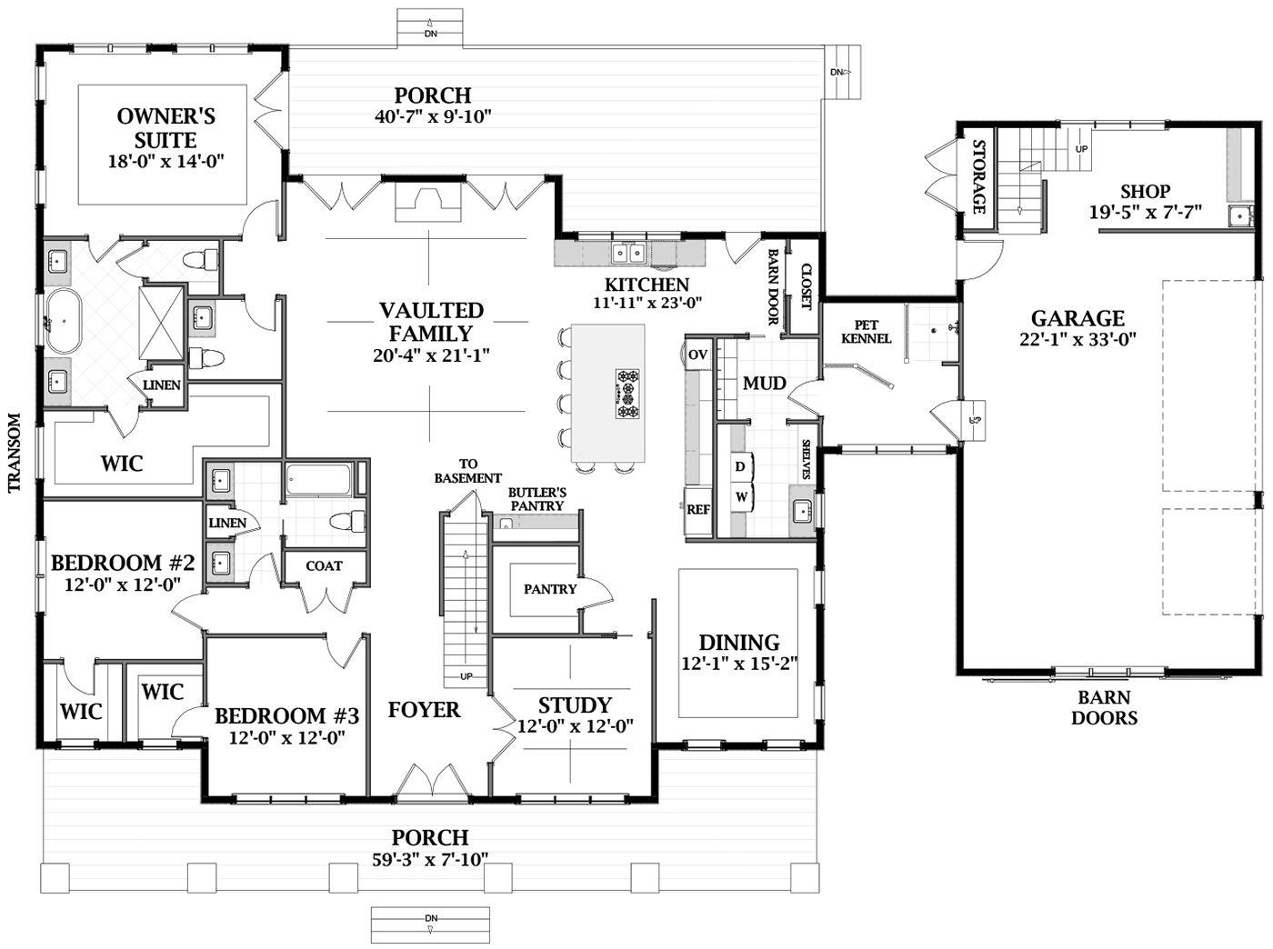 House Plan 6849-00064 - Modern Farmhouse Plan: 4,357 ...