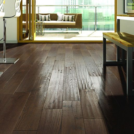 For A Floor That S Hard Wearing: Wickes Gunstock Engineered Wood Has The Natural Beauty Of