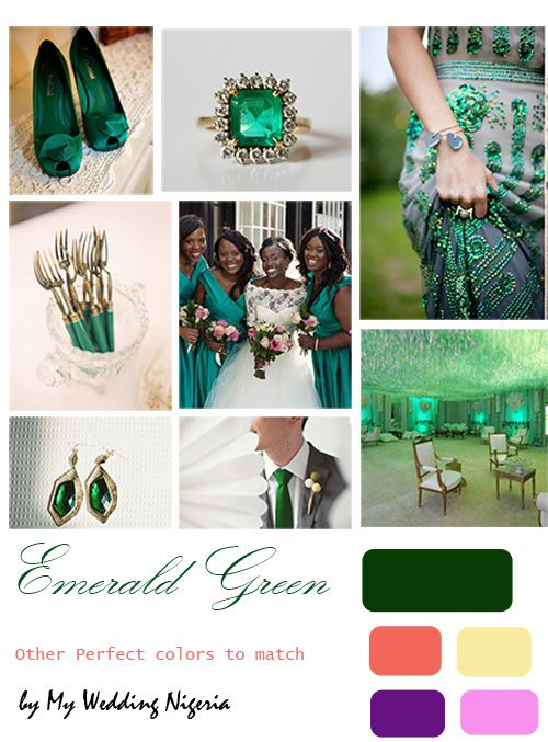 Emerald Green Wedding Color Although I Don T Really Like Their Suggested Colour Matches