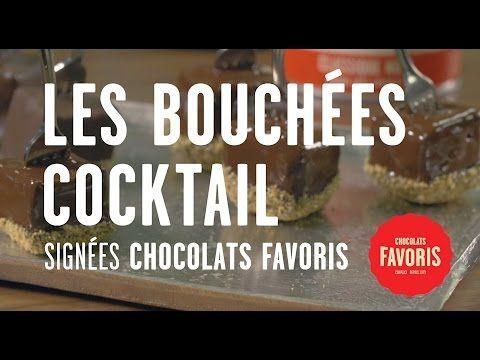 Vérone de chocolat et bouchées cocktail chocolat favori