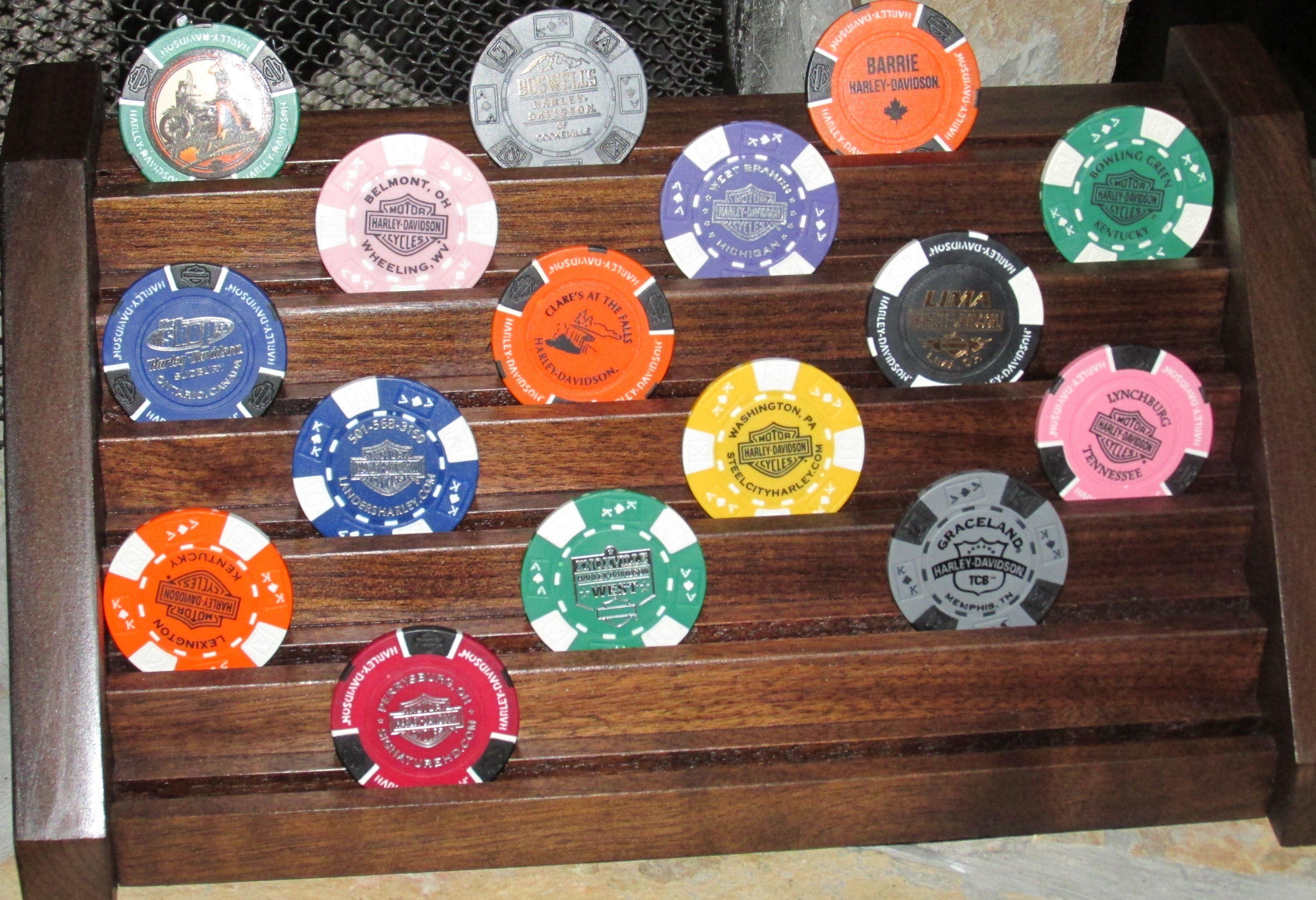Harley Davidson Poker Chips Display Harley Davidson