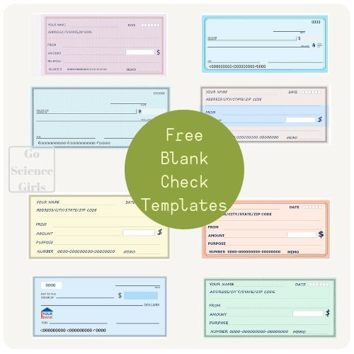 Free Blank Check Templates For Kids (Activities For Kids
