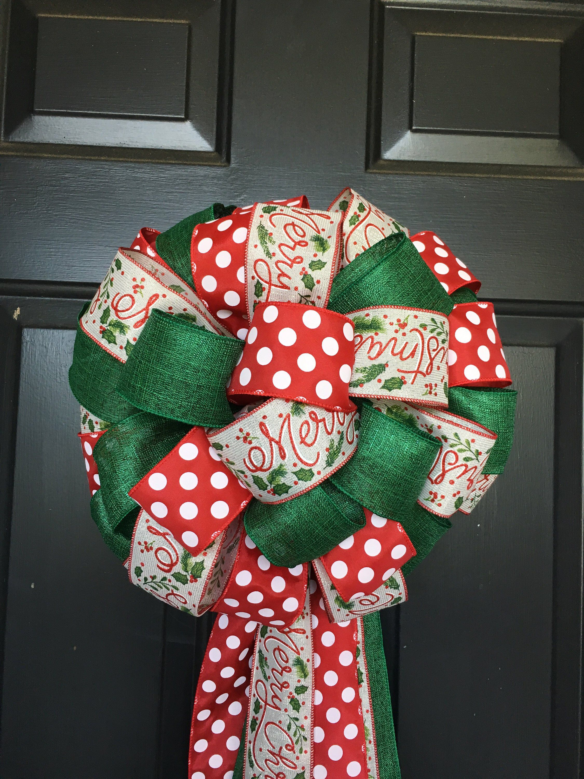 Tree Topper Bow, Christmas Tree Topper Tree topper bow