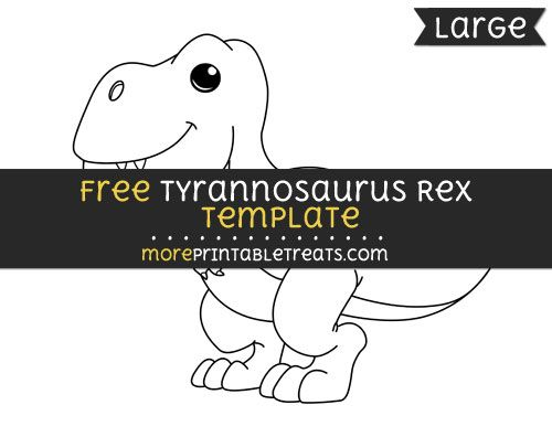 free tyrannosaurus rex template large shapes and templates