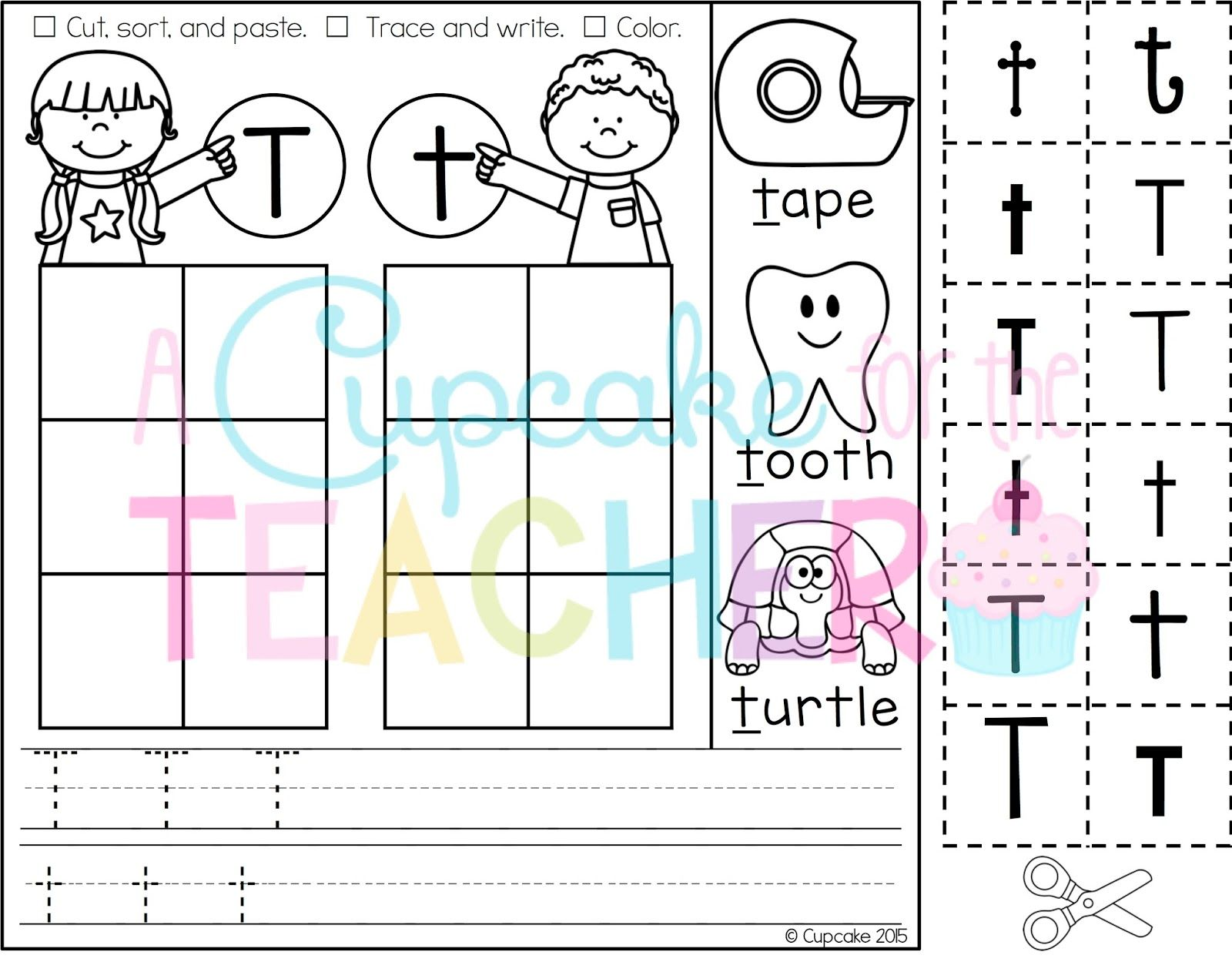 Practice Letter Identification And Formation With Letter Sorts A Z Printables