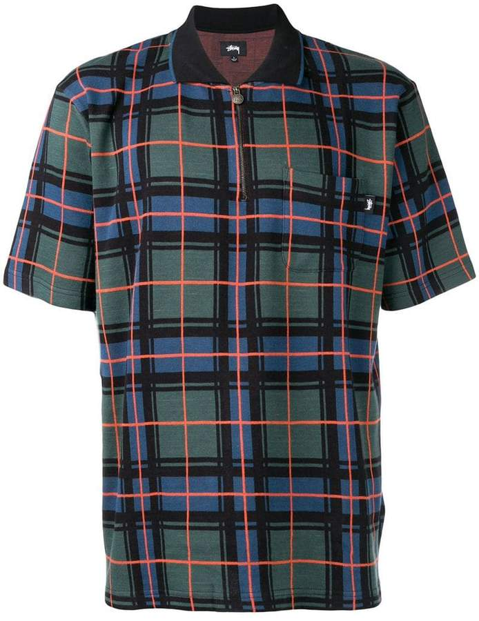 2b97abf7a013f Stussy check patterned polo shirt in 2019