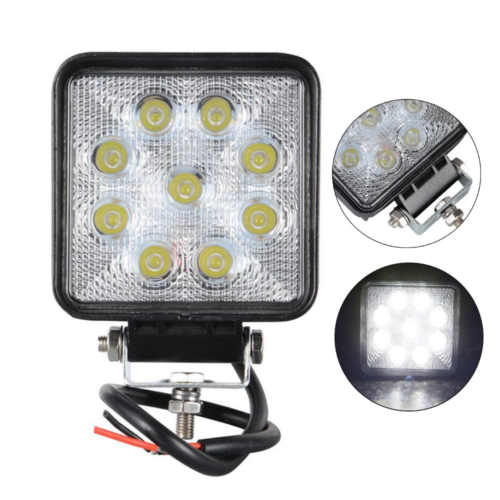 Worklight For Off Road Atv Motorcycle Car Truck Spot Round Led Offroad Light Lamp 2pcs 4 Inch 27w 12v 24v Led Off Road Led Lights Led Work Light Work Lights
