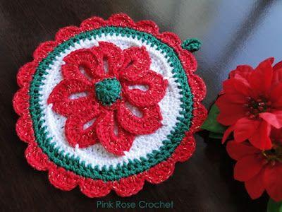 \ PINK ROSE CROCHET /: Resultados da pesquisa Pega panelas flor