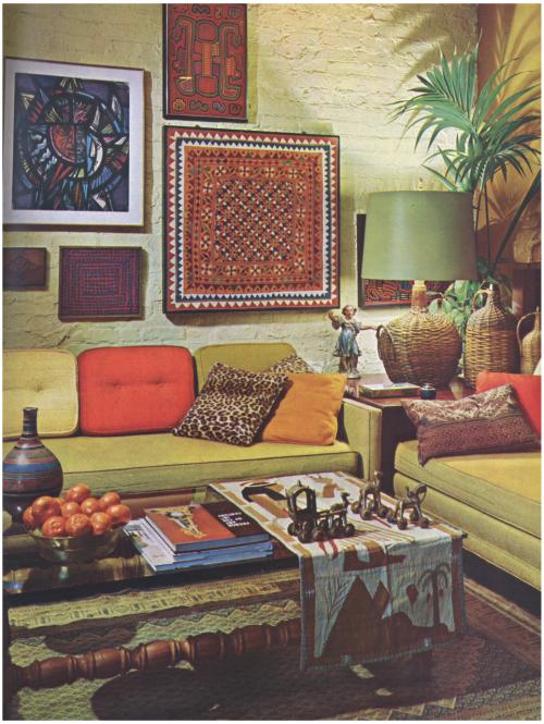 1960s Living Room Mod Era But More Bohemian Than Flower Power