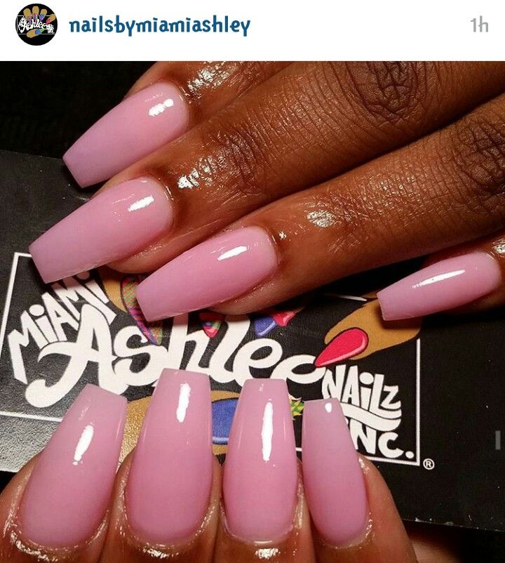Pink simple nails