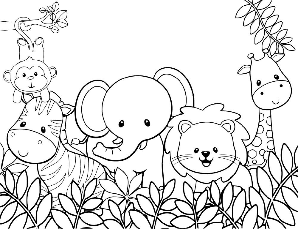 Adorable And Cute Coloring Pages For Kids Zoo Animal Coloring Pages Farm Animal Coloring Pages Animal Coloring Pages