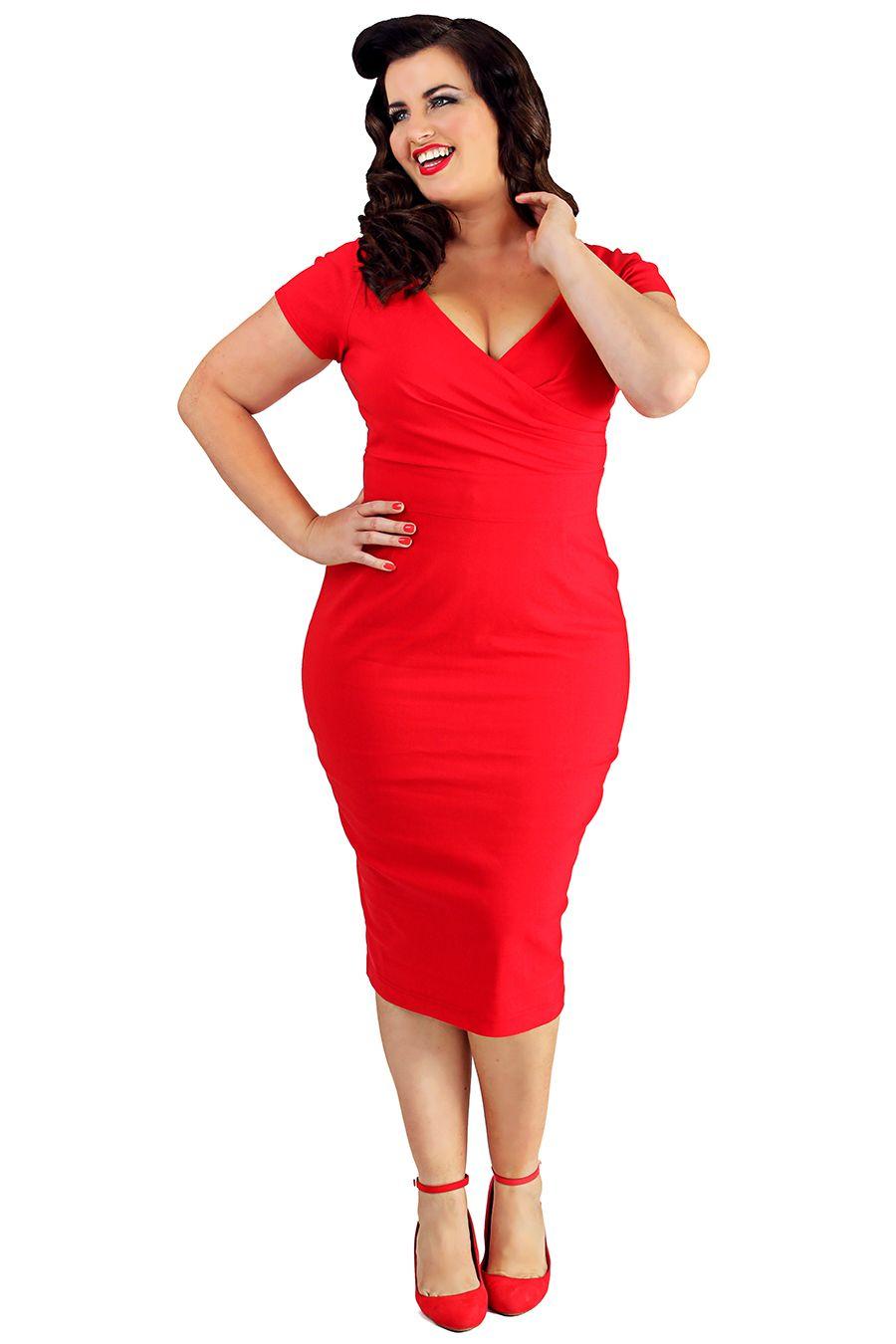 3cca4c2abcc Retro šaty Lady V London Red Ursula Retro šaty ve stylu 50. let. Stylový  kousek z londýnské módní dílny. Jednoduchá klasika v sexy ženském střihu.