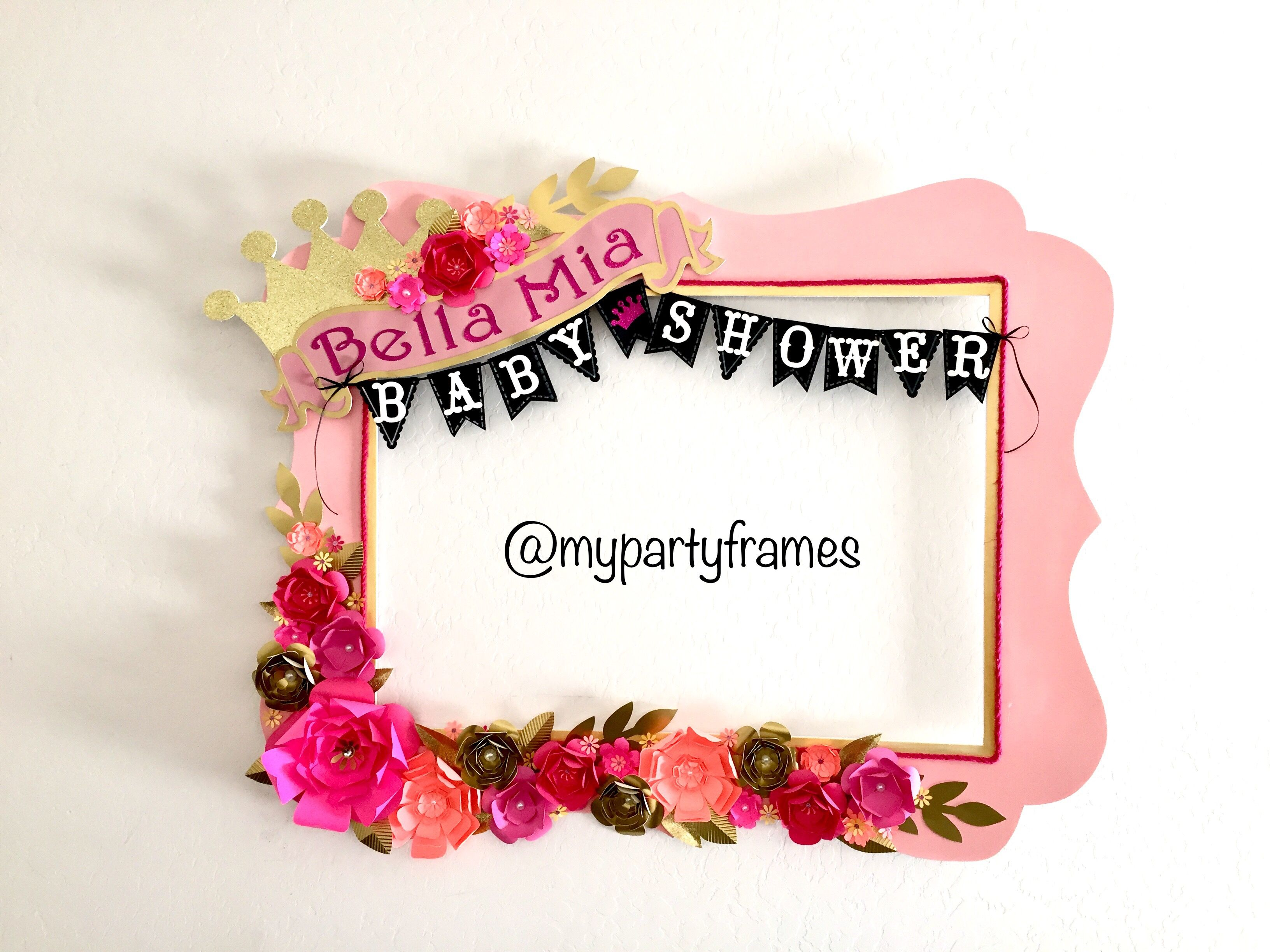 Baby Shower Girl Party Frame #Baby #Shower #Girl #Party #Frame ...