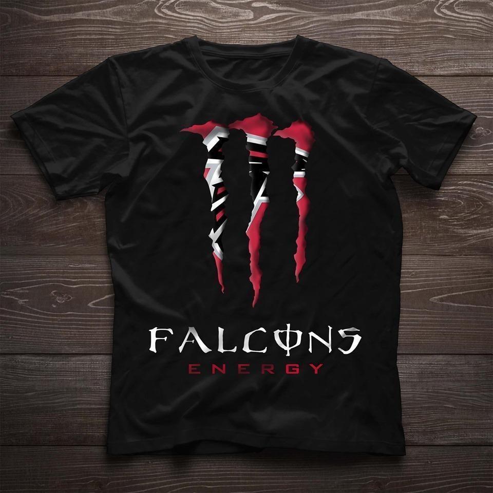 Monster Energy Atlanta Falcons Nfl Fan T Shirt Men And Women T Shirt S T Shirts For Women Team T Shirts T Shirts S