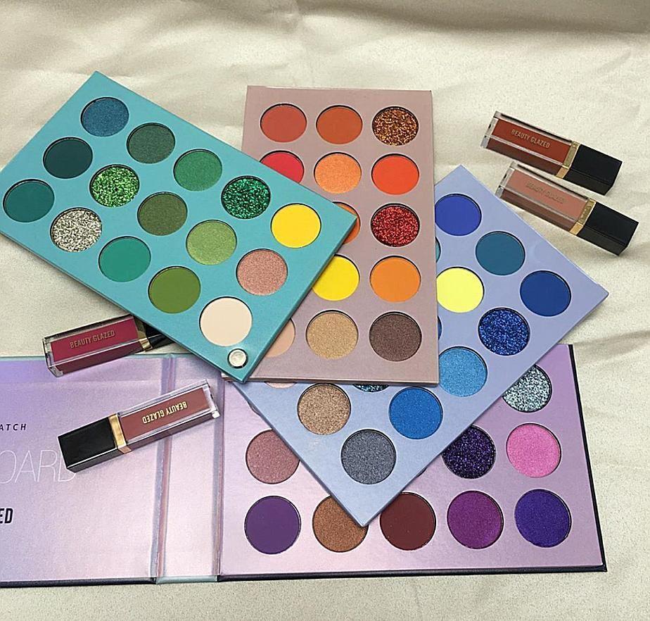 Beauty Glazed 60 Color Eyeshadow Pallete In 2020 Beauty Glazed Eyeshadow Eyeshadow Collection