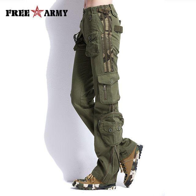 7c9fccc4e3fc2 Brand Plus Size Women Pants Camouflage Cargo Pants Unisex Pants   Capris  Army Military Pants Pockets Women s Clothing TO7305-2