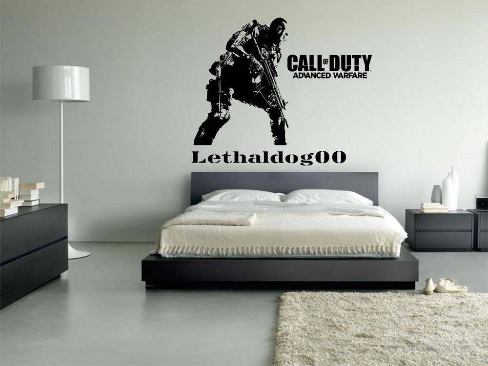 Details About Call Of Duty Advanced Warfare Personalised Vinyl - Personalized vinyl wall art decals