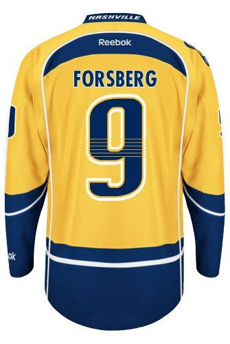 Nashville Predators Filip FORSBERG  9 Official Home Reebok NHL Hockey Jersey  (SEWN TACKLE TWILL NAME   NUMBERS)   Sports   Outdoors 4cfdc5209