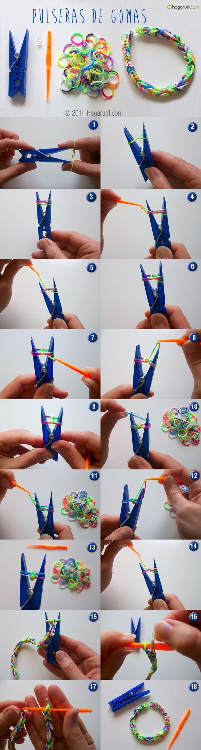 bracelet lastique rainbow loom comment les faire bracelets lastiques rainbow loom et. Black Bedroom Furniture Sets. Home Design Ideas