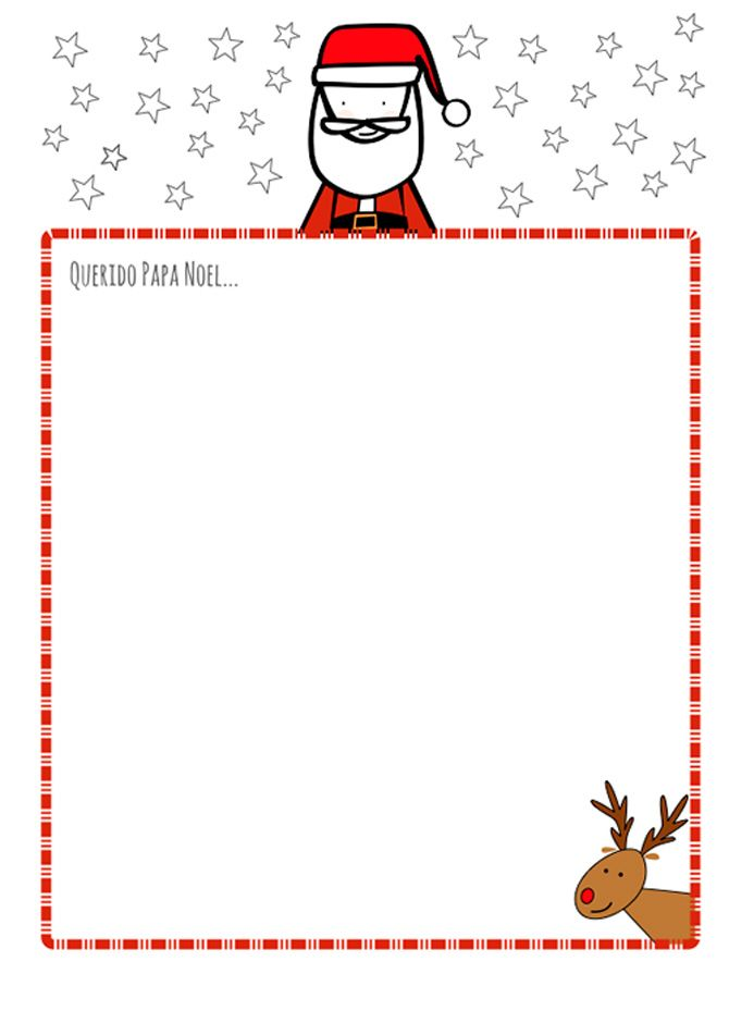 Carta para papa noel gratis | Navidad | Pinterest | Cartas para papa ...