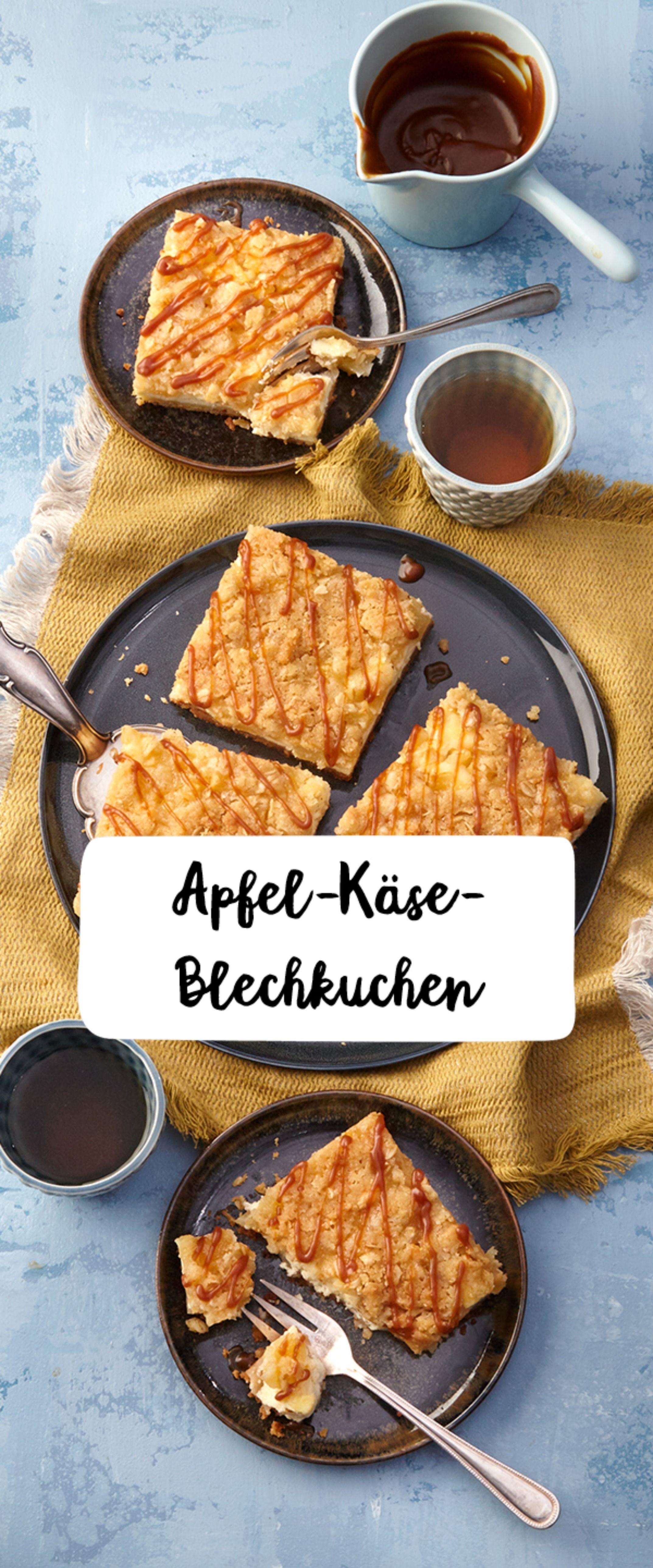 Apfel-Käse-Blechkuchen #kuchentisch
