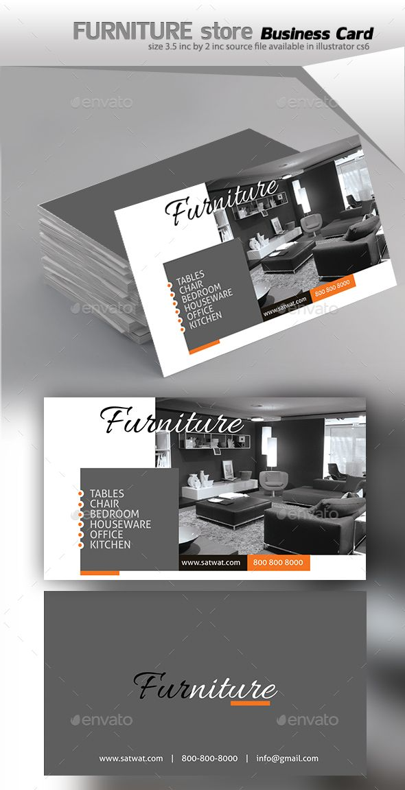 Furniture Business Card - Business Cards Print Templates ...