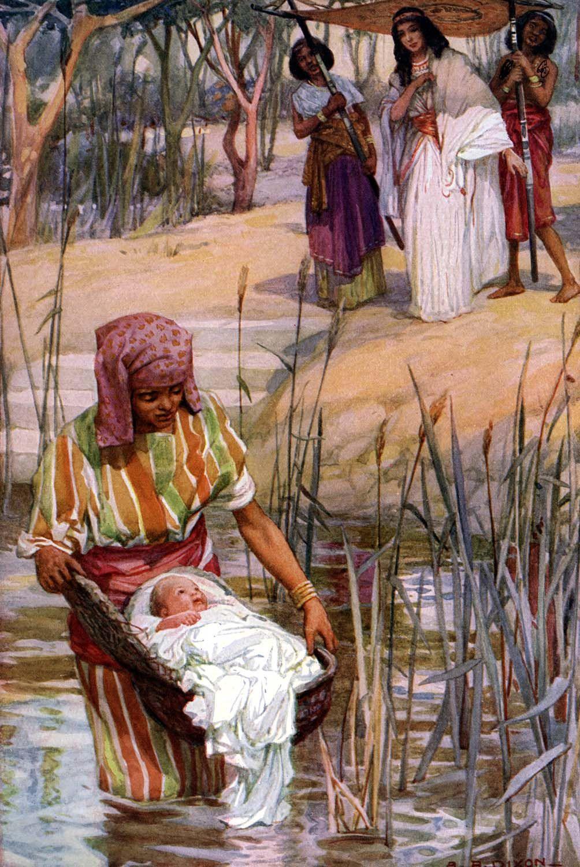 Baby Moses Bible Story Clipart Biblical art, Bible