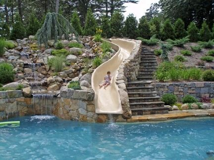 Awesome Water Slide For Backyard Pool