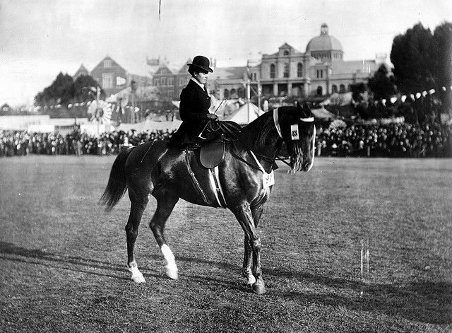 Horsewoman riding side-saddle at the Royal Adelaide Show by State Library of South Australia, via Flickr