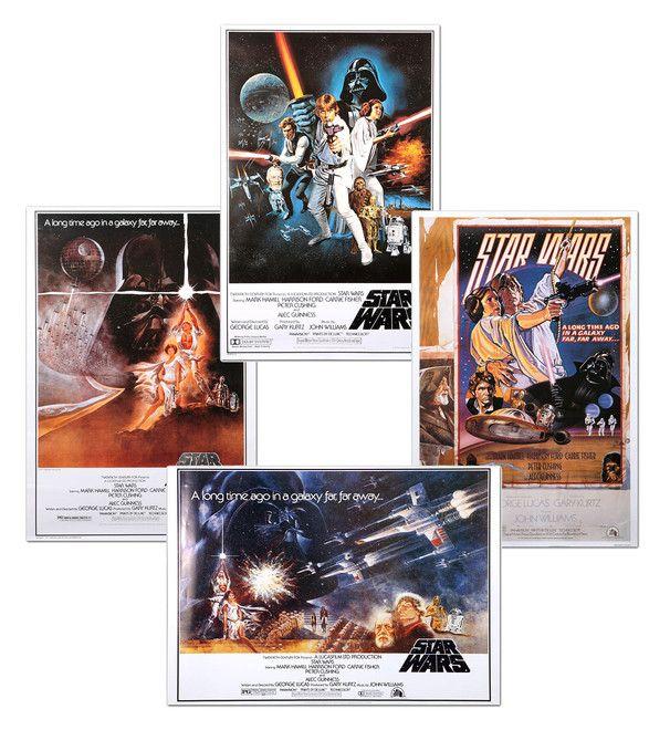 Alkuperäiset, vuoden 1977 Star Wars –julisteet jäljennöksinä! (Vaihtoehto A)
