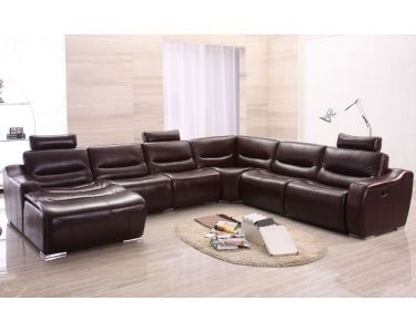 Large Modern U Shape Reclining Sectional Sofa Sectional Sofa With Recliner Real Leather Sofas Reclining Sectional