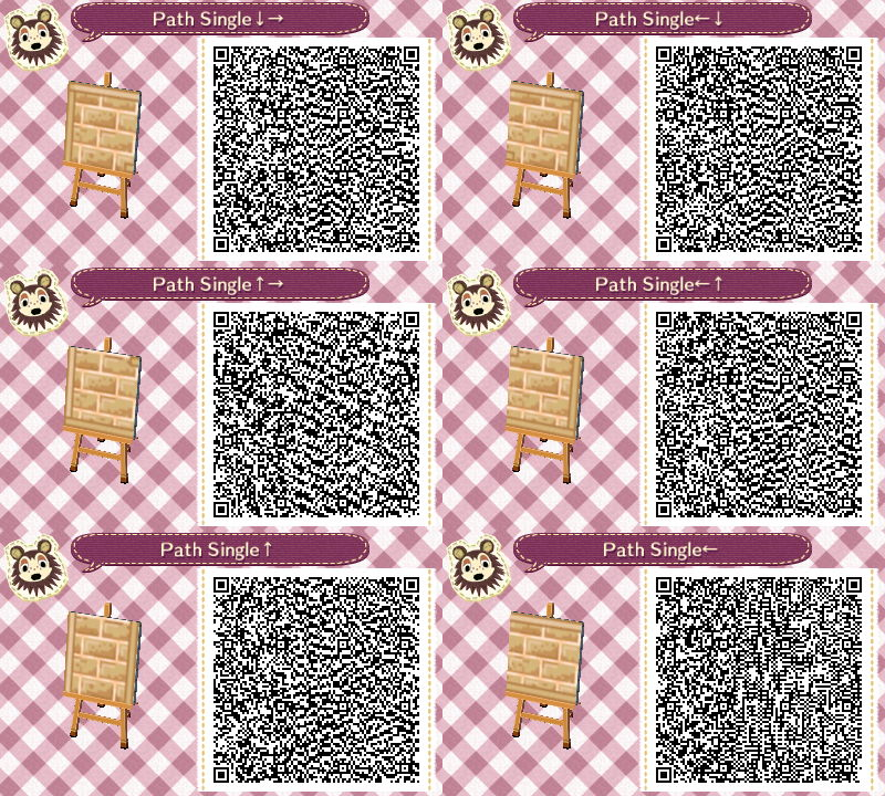 Animal Crossing New Leaf Qr Code Paths Pattern With Images
