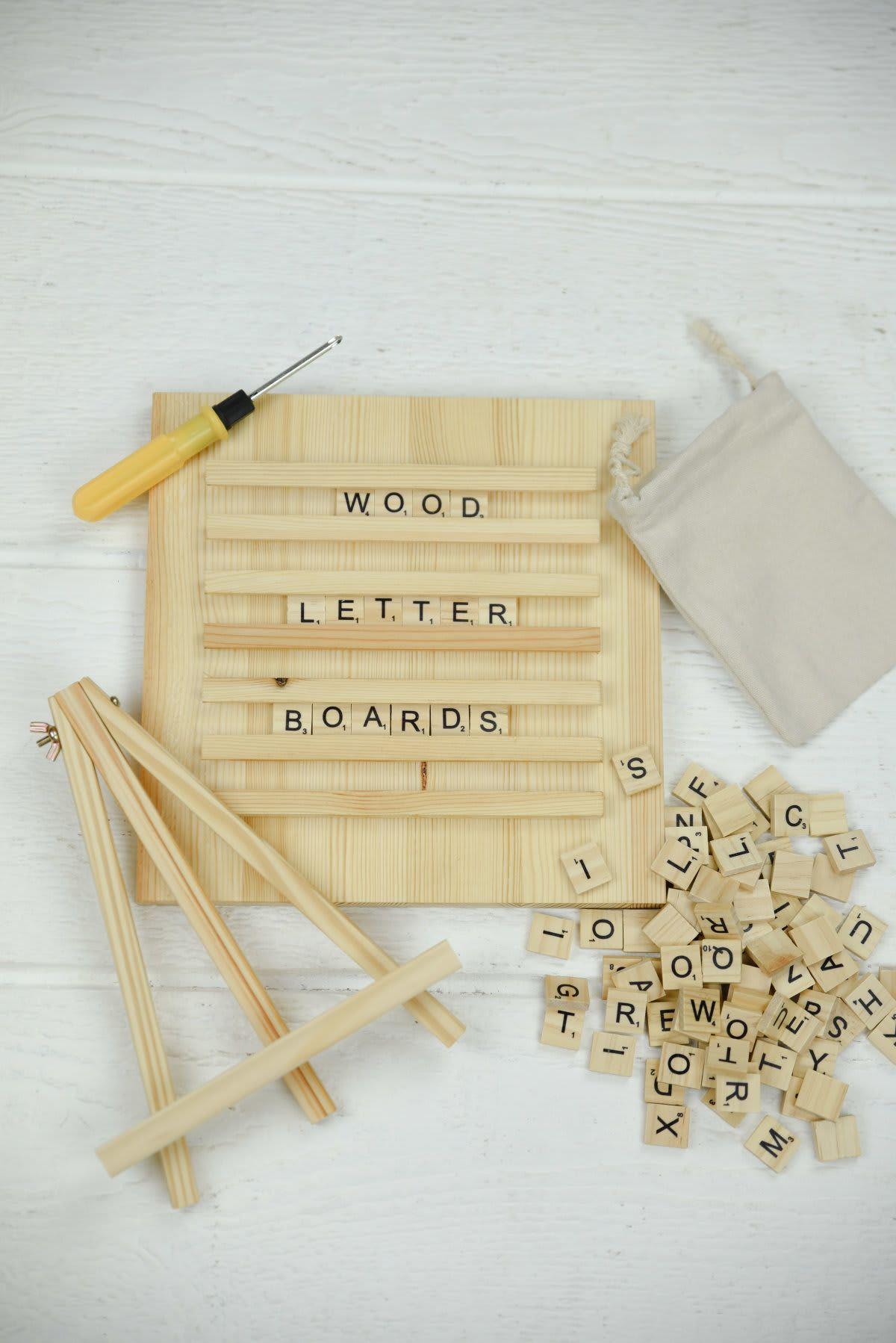 Wood Scrabble Letter Boards Diy letter board, Scrabble