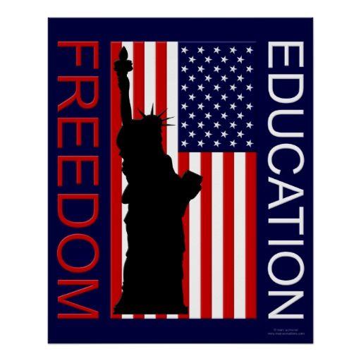 Poster Usa Freedom Education Zazzle Com Education Poster Custom Posters Freedom