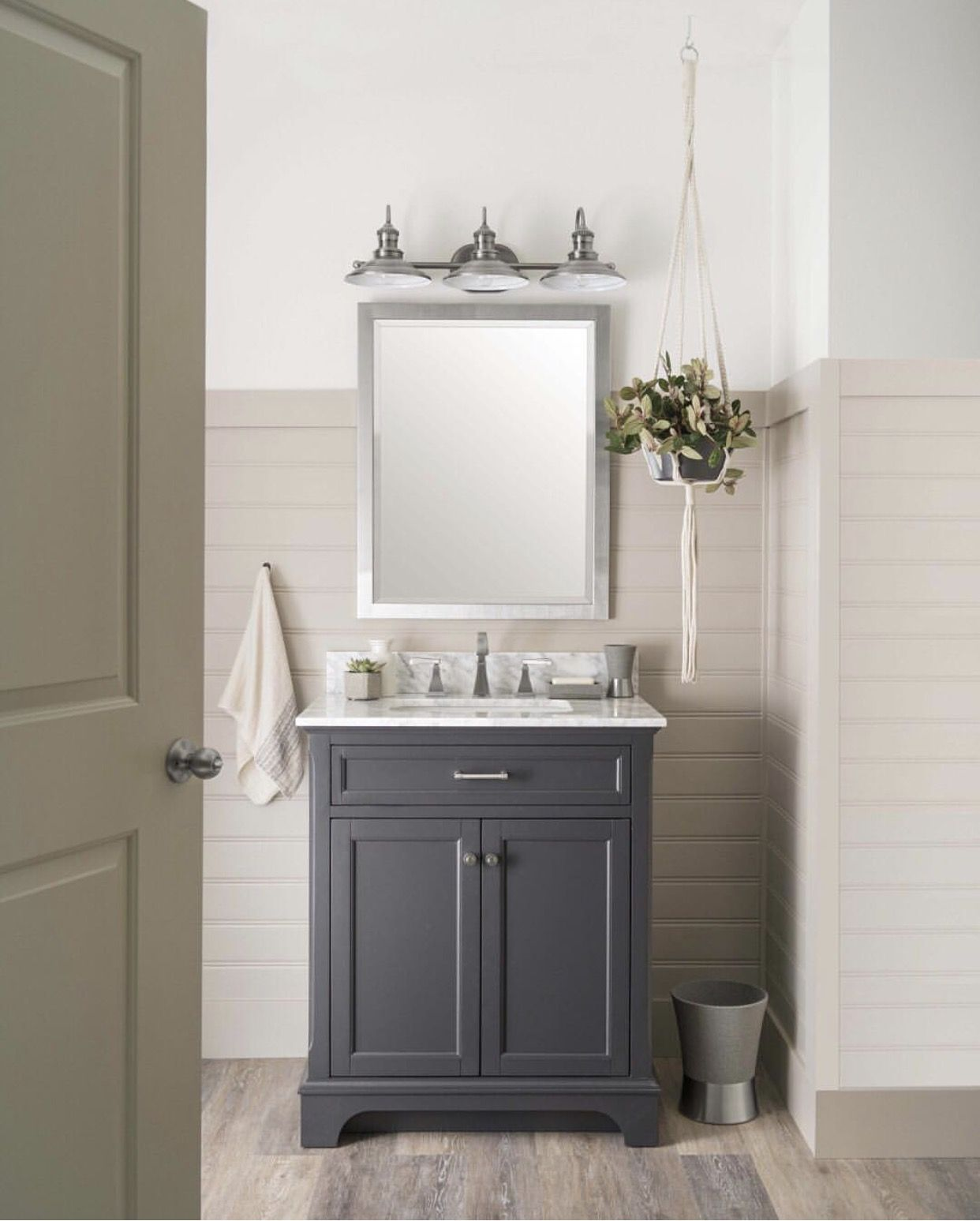 Bathroom Gray Vanity Beadboard Beadboard Bathroom Powder Room Vanity Grey Bathroom Vanity
